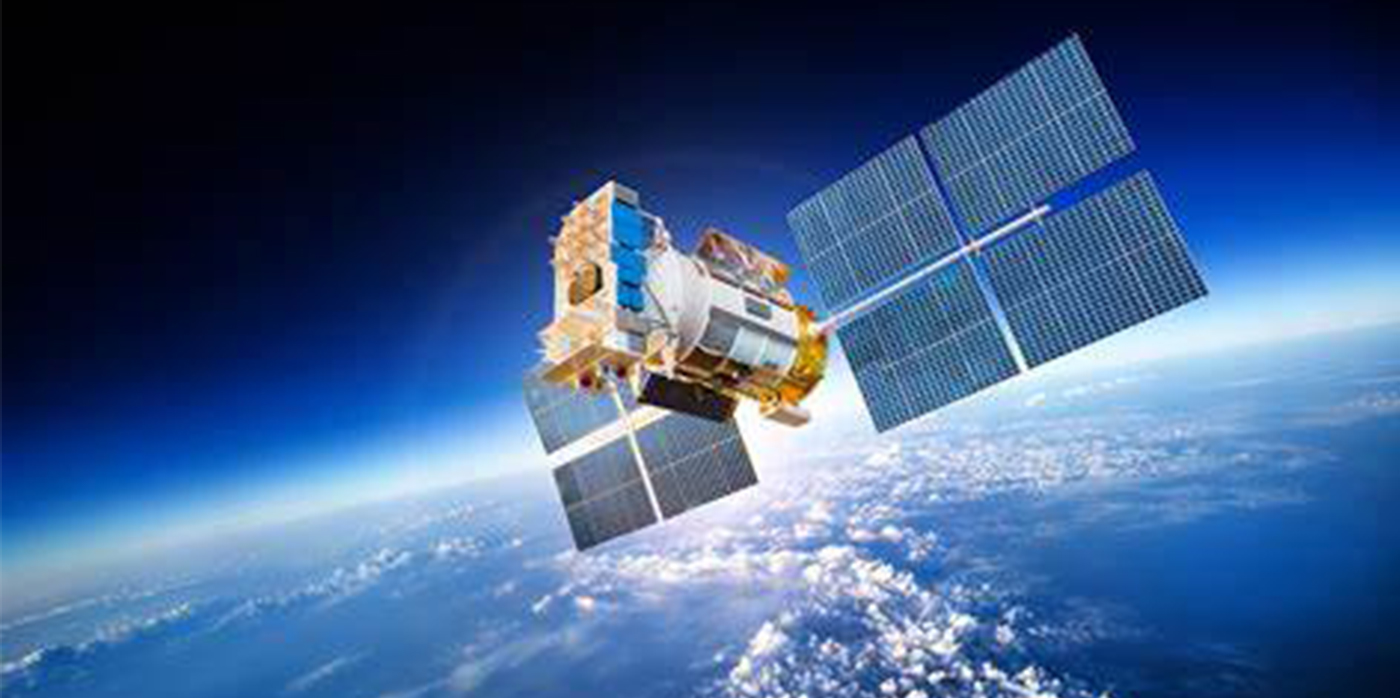 image of satellite in orbit
