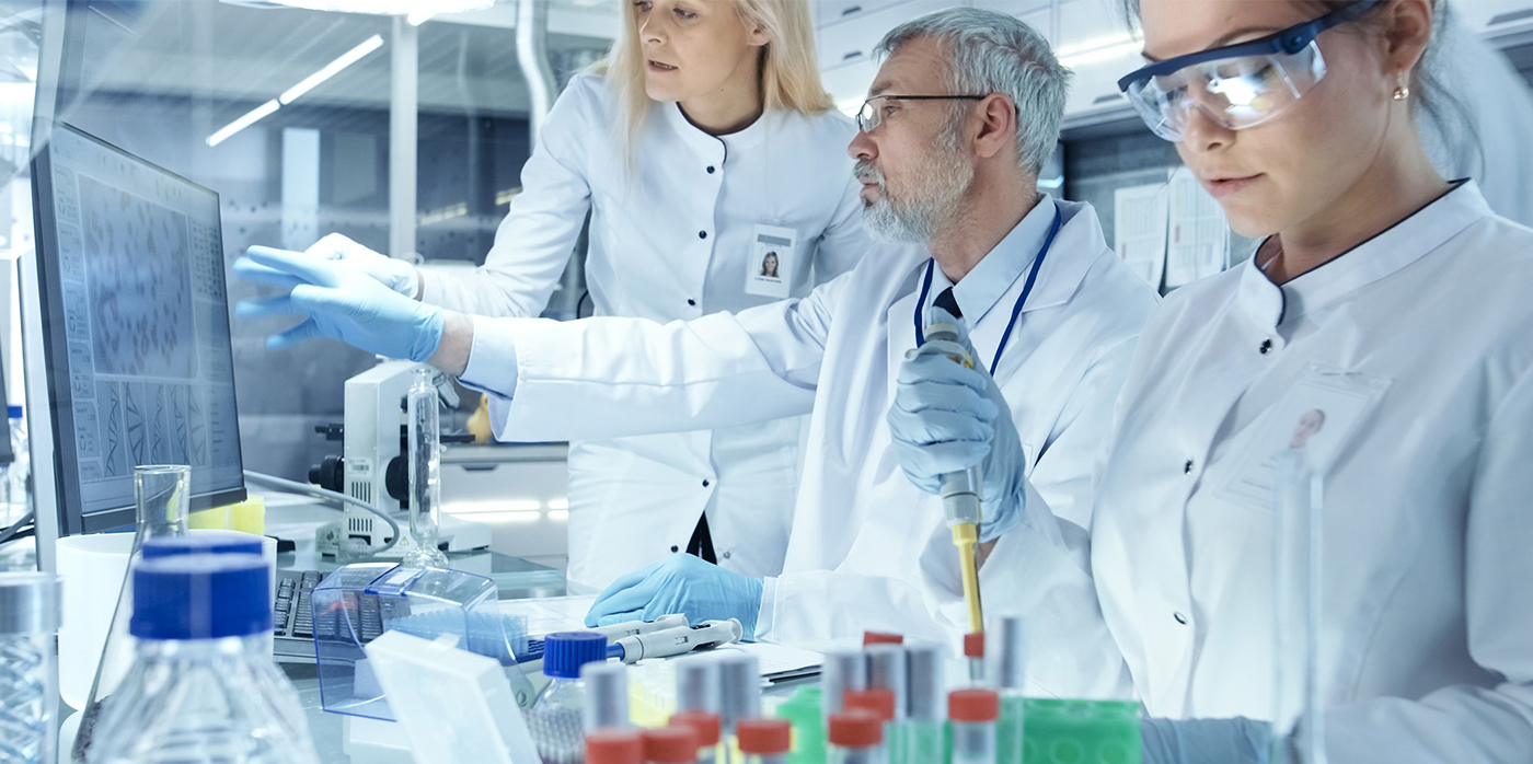 lab technicians working in lab environment