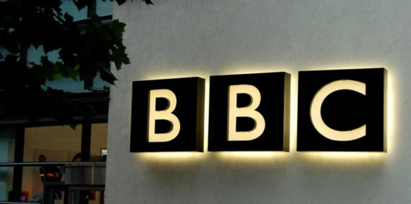 BBC sign on wall