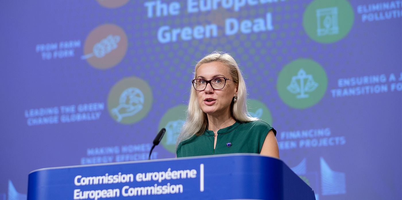 spokesperson at a green deal conference